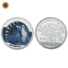 WR Protect Endangered Species Ring Tailed Lemur Silver Souvenir Coin 4 Collector