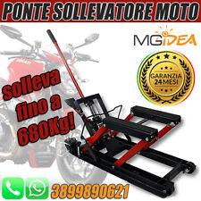 PONTE SOLLEVATORE MOTOCICLETTA CARRELLO CRIC CARICO ALZA MOTO 680 KG IDRAULICO