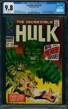 Hulk #102 CGC 9.8 Marvel 1968 1st Issue! Avengers! WHITE! Best Copy! K4 219 cm