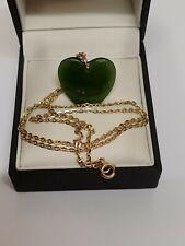 9ct Yellow Gold Jadeite Necklaces