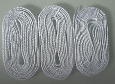 Converse Laces BN Flat 120cm x 7mm White-3 Pairs! Fit 7+ Eyelets