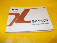 LIBRETTO USO E MANUTENZIONE KAWASAKI GPZ500S