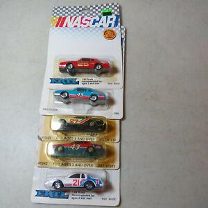 Ertl Nascar 5 Stock Cars 21, 25, 27, 43, 43 1980's-1990's 1/64 Scale