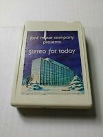 Ford Motor Company Presents Stereo For Today 8 Track Tape Cartridge