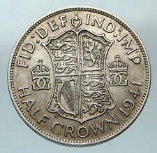 1941 Great Britain United Kingdom Uk George Vi Silver Half Crown Coin i84550