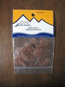 Fly Tying Spirit River CDC Puffs- Medium Brown