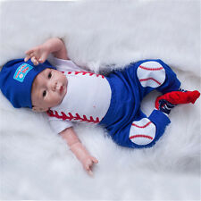 "US 22"" Realistic Newborn Soft Silicone Reborn Doll Lifelike Baby Toy W/Clothes"