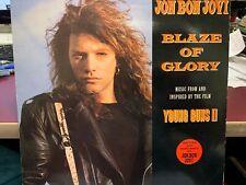 "JON BON JOVI BLAZE OF GLORY YOU REALLY GOT ME NOW 12"" 1990 UK VERTIGO JBJ112"
