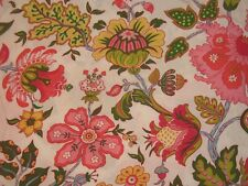Pottery Barn Cotton Bright Bold Floral Std Pillow Sham Red Pink Green Portugal