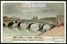 Ponte Pieta Bridge Verona Italy c60 Y/O Trade Ad Card