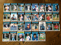 1986 MONTREAL EXPOS Topps Complete Baseball Team Set 31 Cards RAINES REARDONx2