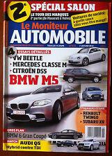 Le moniteur Automobile 7/01/2012; Spécial Salon/ Audi Q5/ BMW M 5/ Beetle/ DS5