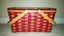 Longaberger Woven Traditions Paprika Everyday Large Market Basket Set RETIRED