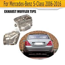 2PCS Car Exhaust Muffler Tips Fit for Mercedes Benz W222 C217 S-class 06-16