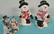 snowman tealight candle holder and Home interior figure mr. And mrs. Snowman