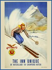 Ski Crawford Notch New Hampshire United States Travel Advertisement Art Poster