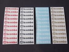 10 x brembo Aufkleber - Größe: 1,7 x 7,5cm - rot - schwarz - weiß - gold