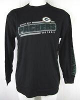 Green Bay Packers NFL Team Apparel Men's Black Long Sleeve T-Shirt