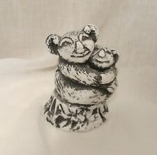 Koala Bear & Baby Figurine Handcrafted Sculpture