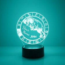 Aries, Zodiac Signs Night Light 16 Color Change LED Desk Touch Lamp Home Decor