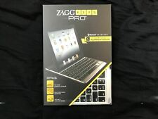 ZAGG PRO Bluetooth Keyboard for Apple iPad 2 / iPad 3/ iPad 4 Aluminum Brand New