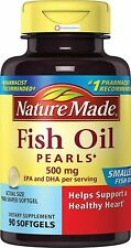 Nature Made Fish Oil Pearls 500 Mg Softgel 90 Count, Helps Support Healthy Heart