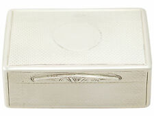Sterling Silver Table Snuff Box by Frederick Mason - Antique Victorian