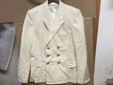 Soviet Navy Officer Double Breasted Suit Blazer,Ivory,Size 48-3