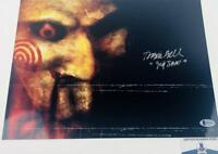 Tobin Bell signed JIGSAW SAW 11X14 METALLIC photo BAS COA H32802