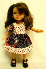 4th Of July Dress For 14.5 Inch Doll