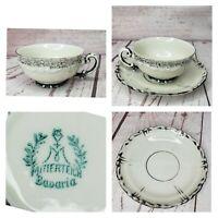 Mitterteich Bavaria Mini Tea Cup And Saucer