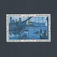 Boston Tea Party - Mint Set of 4 Vintage Stamps 44 Years Old!