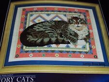Lesley Anne Ivory Cats Gemma On A Dhurrie Counted Cross Stitch Kit