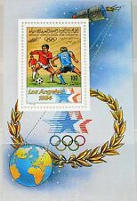 Libia libia 1983 bloque 68 S/s 1118 soccer sport Olympics 1984 los angeles mnh