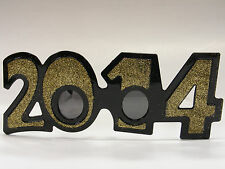 2014 GOLD GLITTER GLASSES NEW YEARS HOLIDAY ACCESSORY ONE SIZE