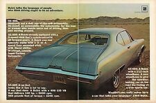 1967 2 Page Ad for 1968 Buick GS 400 A Car That Looks Like It Has A Lot To Say
