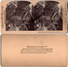 HEART OF BOX CANYON COLORADO GORGE MOUNTAIN STEREOVIEW
