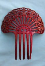Antique Style Ornate Glitter Hair Comb Fan Large Accessory