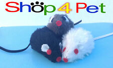 Cat Toy Mouse, in Black White or Grey, with Bell inside for your Cats Enjoyment