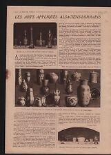 Cristallerie Saint-Louis-lès-Bitche Lorraine France Louis XIV 1919 ILLUSTRATION