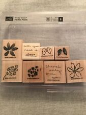Stampin Up Painted Posies Set Of 8 Wood Mounted Rubber Stamp Su Scrapbook 2005