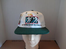 VINTAGE ATLANTA 1996 OLYMPIC TORCH RELAY AUTHENTIC OLYMPIC GAME SNAPBACK CAP NWT