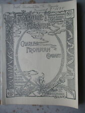 ORIGINAL 1895 New York City Theatre Program