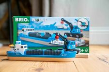 BRIO 33534 Freight Ship and Crane for Wooden Train Set
