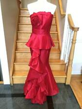 NWT JOVANI 9707 Long Red  Prom  Gown Dress Sz 2