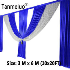 Backdrop-drape-wedding-party-stage-decoration swags only royal blue 10*20FT