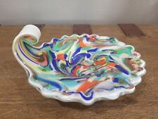 Vintage Murano Glass Bowl By Fratelli Toso