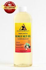 KUKUI NUT OIL ORGANIC by H&B Oils Center COLD PRESSED PREMIUM 100% PURE 64 OZ