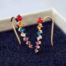 Girl Stylish 7pcs CZ Diamonds Earrings for women girls