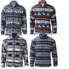 Mens Fleece Lumberjack Winter Zip Up Work Shirts Thermal Jacket 2 Side Pockets